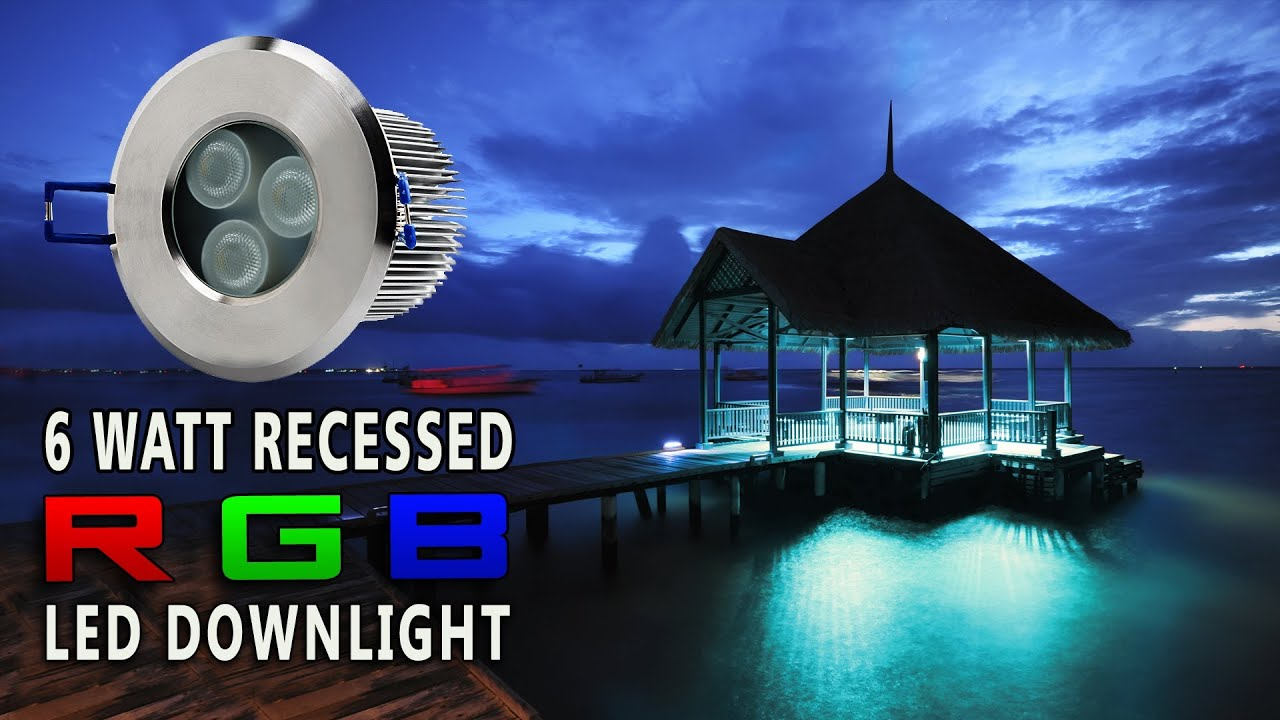 & LED Recessed RGB Color Changing Down light - YouTube azcodes.com