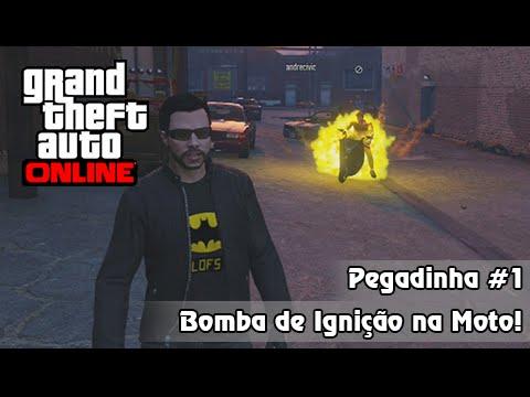 GTA V PS4 Online: ESTREIA Pegadinhas #1 - Bomba na Moto, Explodindo Português Gente Boa!