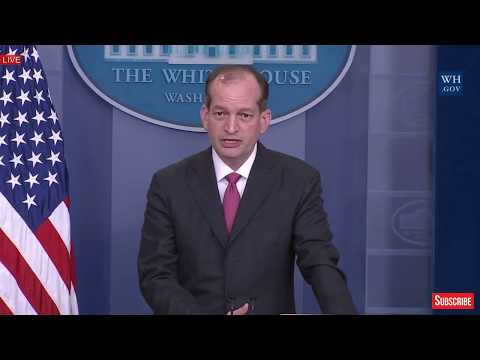 Alexander Acosta on Work Force, and Future of Americans Jobs at Sean Spicer Press Briefing 2017