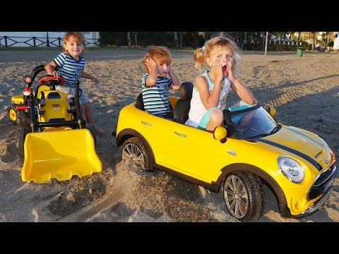 Drive a Car Song +More Nursery Rhymes & Kids Songs - LETSGOMARTIN