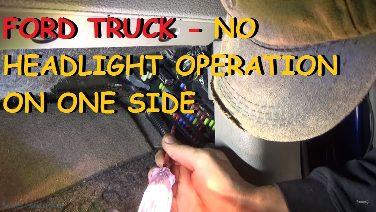 2001 ford f250 headlight switch wiring diagram 2003 ranger fuse panel truck one not working youtube