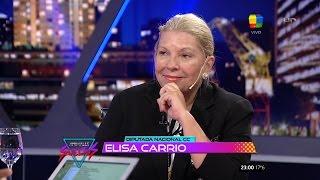 "Elisa Carrió en ""Animales sueltos"" de A.Fantino - 27/10/15"