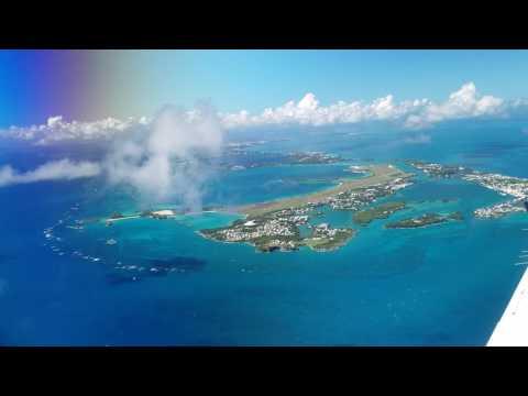 Leaving Bermuda in the Beechcraft Super King Air 350 Oct 2016