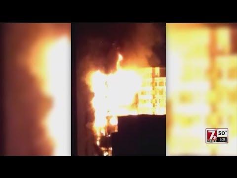 Building fire in Brazil