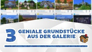 3 geniale Galerie-Grundstücke | September-Showcase | sims-blog.de