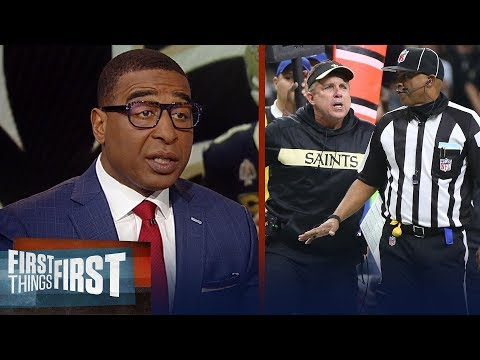 Cris Carter reacts to the controversial non-call in Saints loss to Rams | NFL | FIRST THINGS FIRST