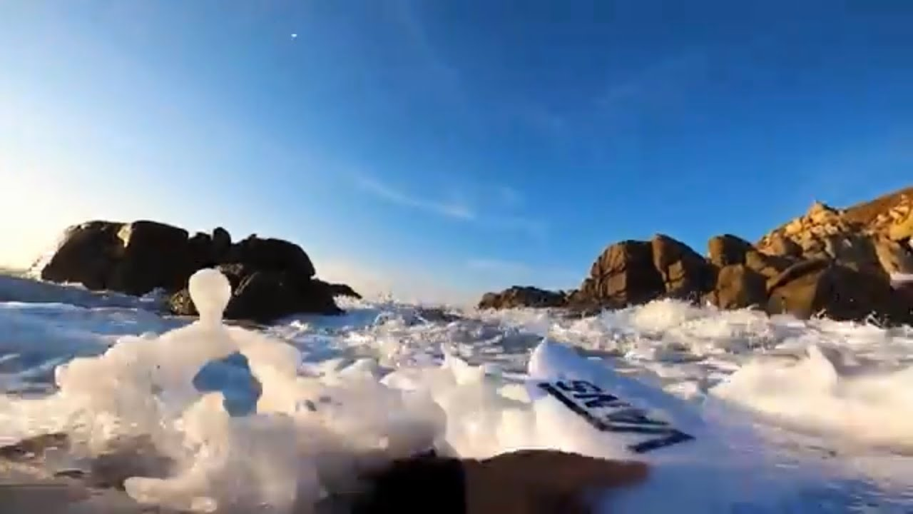 RAW POV NEARLY SMASHED ON ROCKS DURING PADDLE OUT!