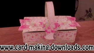 How To Make A Cantilever Box Www.card-making-downloads.com