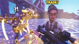 Scammer JOINS and TAKES ALL His Items Then LEAVES... (INSANE PRANK) - Fortnite Save The World