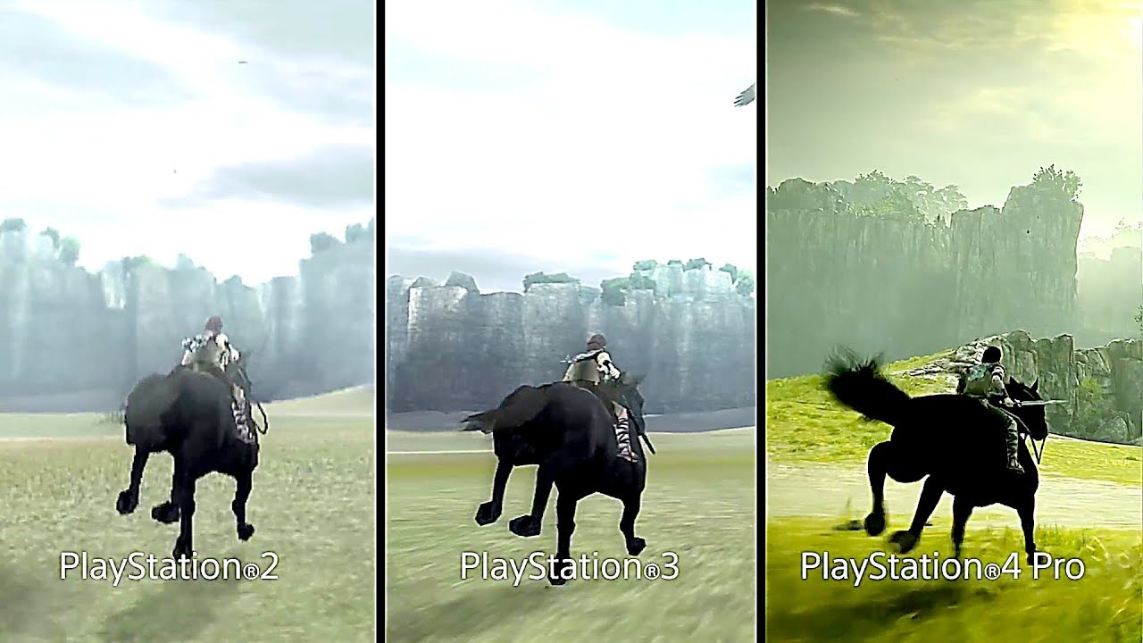 SHADOW OF THE COLOSSUS : PS2 Vs PS3 Vs PS4 (Comparison ...