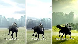 SHADOW OF THE COLOSSUS : PS2 Vs PS3 Vs PS4 (Comparison Trailer)