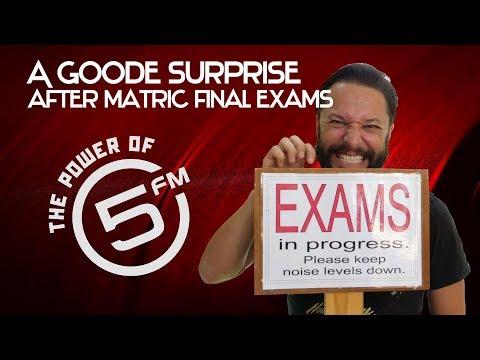 Roger Goode Surprises Matrics at their Last Exam