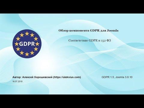 GDPR Joomla