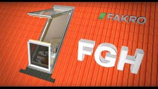 Факро   Вікно-балкон FAKRO roof windows FGH-V.