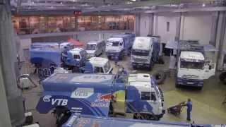 Dakar 2015 - Russian KAMAZ Master team was preparing and testing