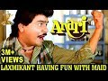Anari Movie Scenes | Laxmikant Having Fun with Maid | Karishma Kapoor | Venkatesh | Johny Lever
