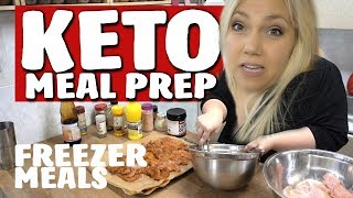 Keto Diet Meal Prep CHICKEN Freezer Meals - Cook With Me Vlog