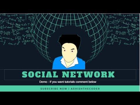 Social Network in Node | Demo - AshishTheCoder