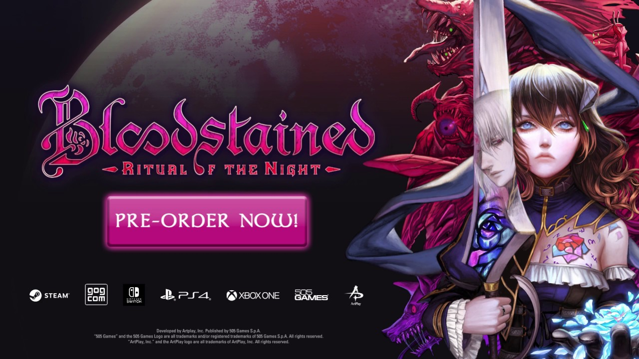 Bloodstained: Ritual of the Night, Pre-load live and file size for Nintendo Switch