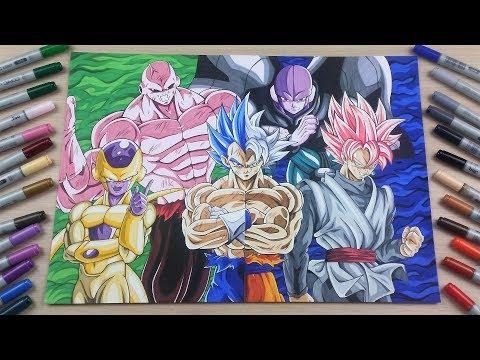 ✖️ 200 K SPECIAL ✖️ Dragonball Super! Drawing Goku, Vegeta, Jiren, Hit, Frieza & Goku Black