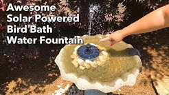 Excellent Solar Powered Bird Bath Water Fountain