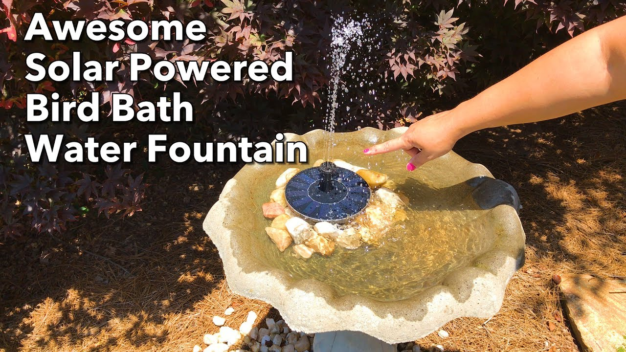 Excellent Solar Ed Bird Bath Water Fountain