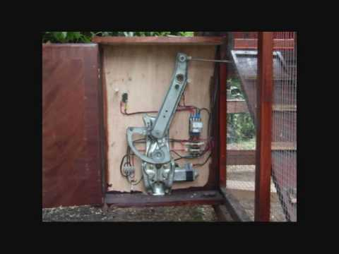 Automatic Timed Chicken Coop Door - YouTube