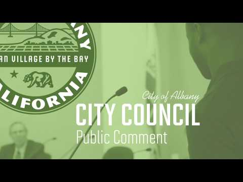 Albany City Council - June 5, 2017 clossed session public comment