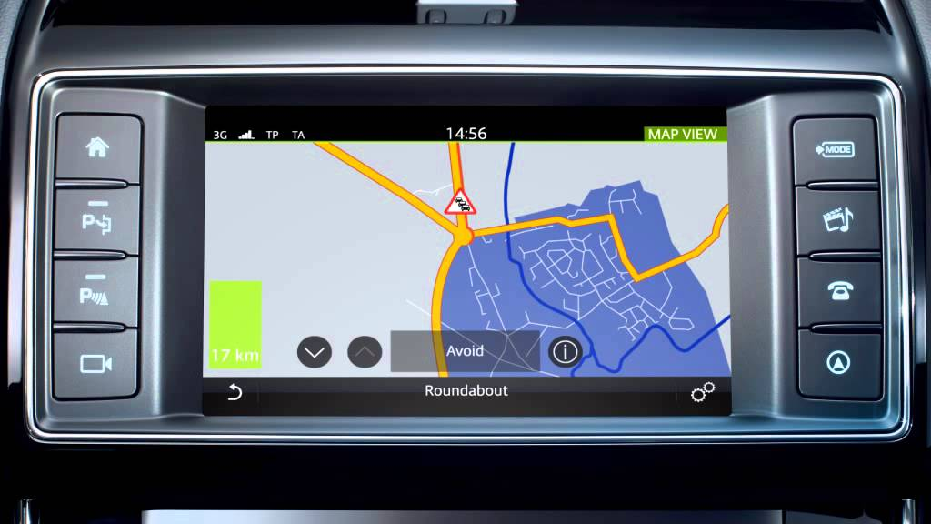 Jaguar Xe 2016 Incontrol Touch Navigation Traffic