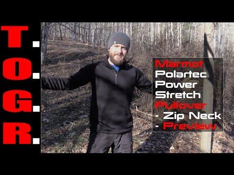 Warm! - Marmot Polartec Power Stretch Pullover - Zip Neck - Preview