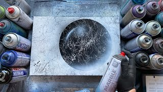 BLACK MARBLE  SPRAY PAINT ART by Skech