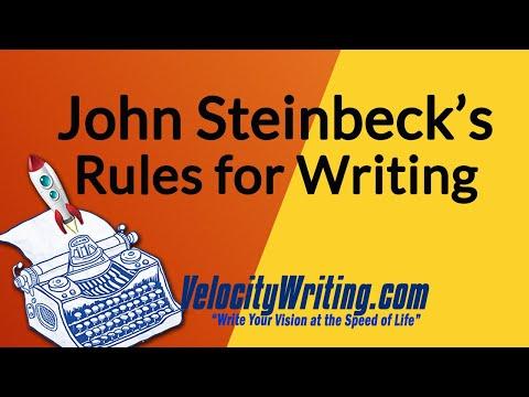 John Steinbeck's Rules for Writing