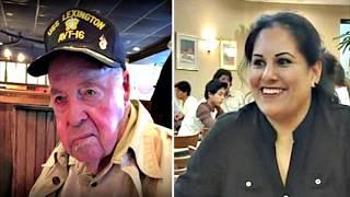 Этот ветеран всегда был злым для своей официантки,спустя 7 лет он умирает и раскрывается невероятное