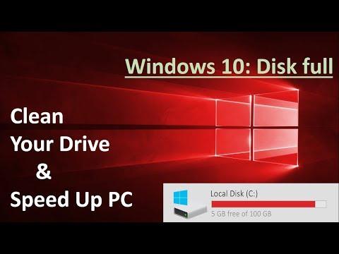 clean c drive windows 10 8 7 in Hindi / Urdu [ speed up computer - free disk space ]