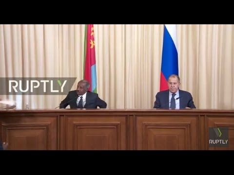 LIVE: Russian Foreign Minister Sergei Lavrov and Eritrean counterpart hold joint presser
