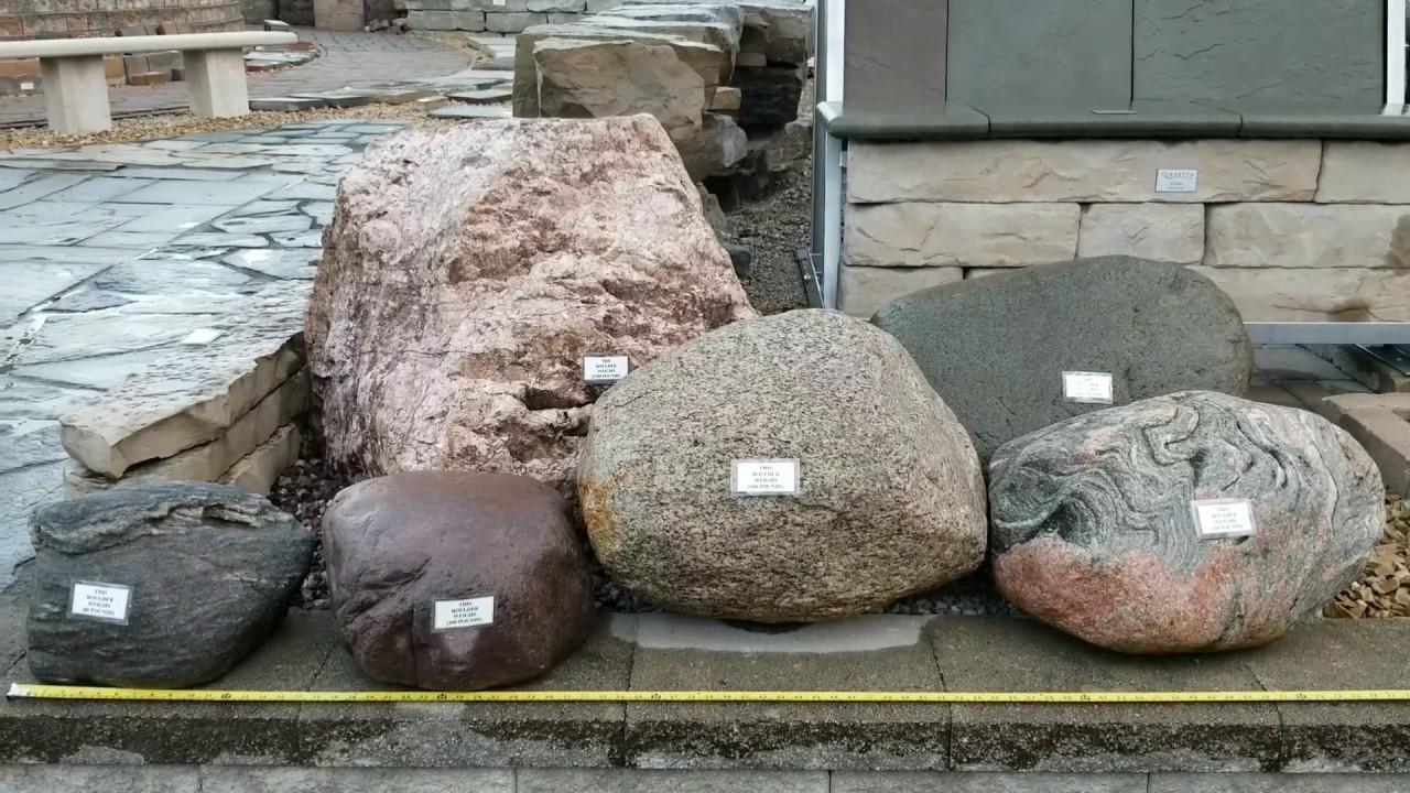 heavy landscape boulders