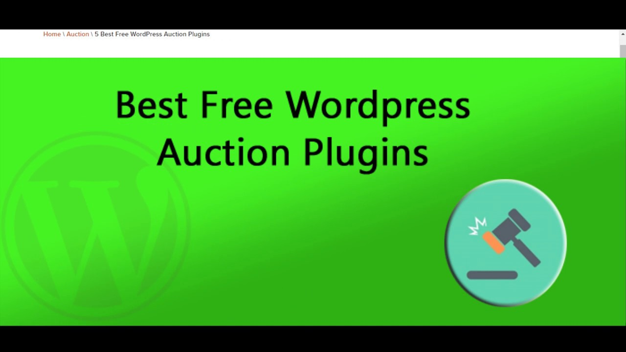 5 best free wordpress auction plugins