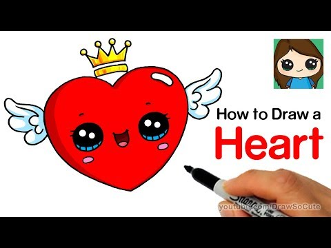 How to Draw a Heart with Wings Easy