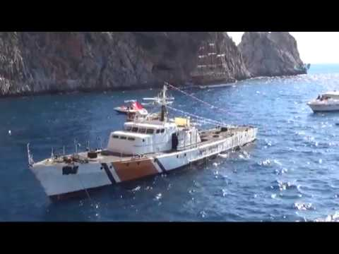 Sahil Güvenlik Gemisi Böyle Bat?r?ld?