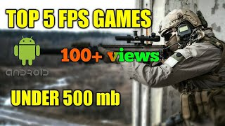 Top 5 FPS games on android offline/online | Hindi | Yash GTZ