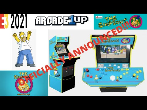 Arcade1up - Simpsons Arcade Officially Announced At Last!!! from PsykoGamer