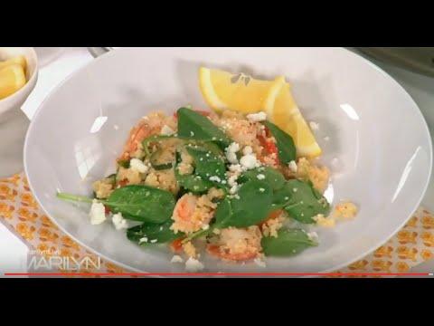 10 Min One Pot Greek Shrimp Couscous