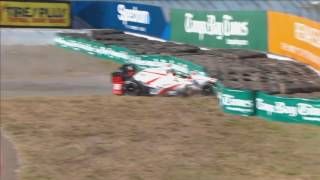 IndyCar Series 2017. Qualifying Firestone Grand Prix of St. Petersburg. Sébastien Bourdais Crash