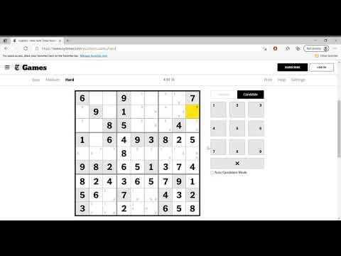 Hard Sudoku New York Times April 11