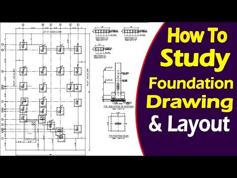 How To Study Foundation Layout Plan And Building Layout For Beginners In Urdu/Hindi