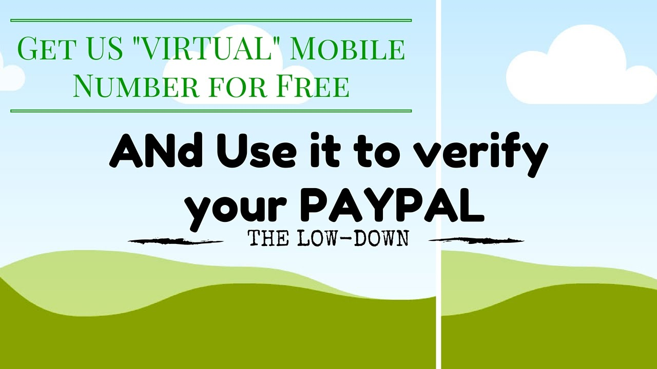 US virtual phone number for free (verify paypal) by The Every Tech