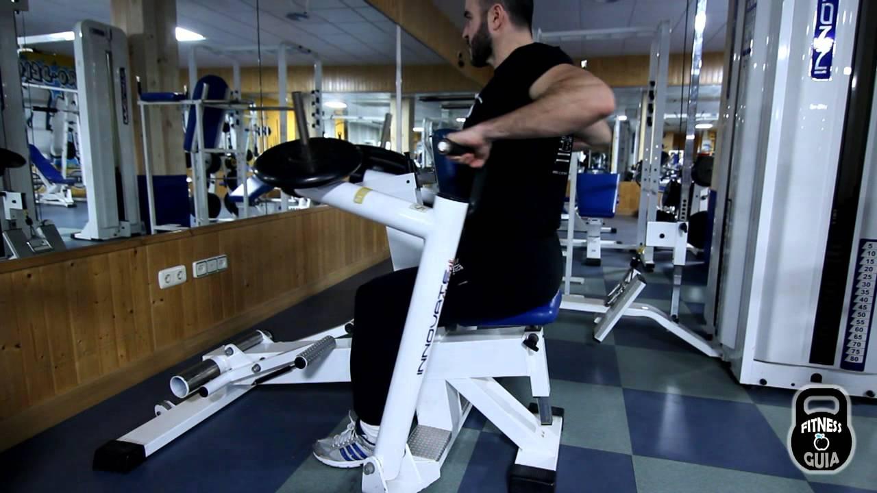 Espalda remo sentado maquina abierto youtube for Gimnasio abierto