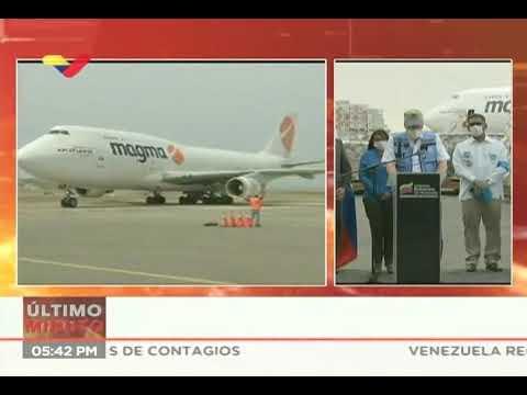 Venezuela recibe 90 toneladas de ayuda de Rusia, la Unicef y la OPS contra el Covid-19