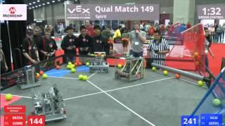 2016 vex worlds vex robotics competition match 149 spirit