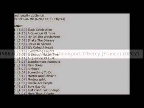 Depeche Mode 1986.05.06 Paris, Palais Omnisport D'Bercy (France) (OPC2)